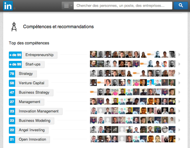 Exemple Reciprocité LinkedIn